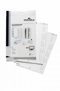 Indstik til kongresmærker på A4-ark hvid 65x30mm 20ark/pak