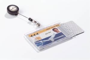 ID-kort-holder til 2 stk kort 10stk/pak 8224 m/badge reel