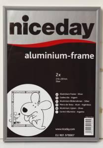 Aluramme niceday A4 sølv 210x297mm plexiglas