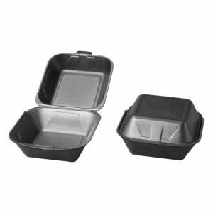 Burgeræske skum grå m/låg IP6 4x125stk/pak