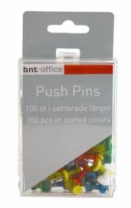 Markeringsnåle Push Pins Ass. 100stk/pak