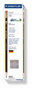 Blyanter Staedtler Noris 122 HB m/viskelæder