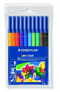 Farvetusser Staedtler Noris Club ass. 1,0mm 10stk/pak