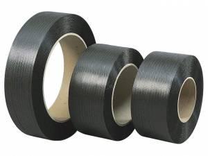 Strapbånd PP sort 12,7x0,73mm Ø406mm 2000m 230kg træk