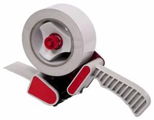 Tapedispenser m/ håndtag og bremse t/ 50mm x 66m emballagetape
