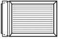 Kuverter m/papbagside hvid 229x324mm nr3 C4 11743 250/pak