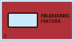FØLGESEDDELLOMME C2 122*225mm m/tryk følgeseddel/faktura 1000stk/kar