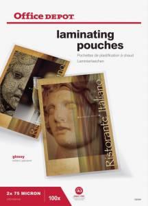 Lamineringslommer OD blank 75mic A3 (303x426) - 100stk/æsk