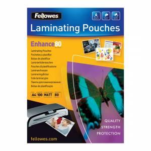Lamineringslommer Fellowes Mat 80 mic. A4 (216x303) - 100stk/æsk