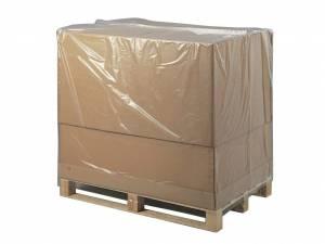 Pallehætte Klar 50my LDPE til 1/1 palle - 120/45x180cm