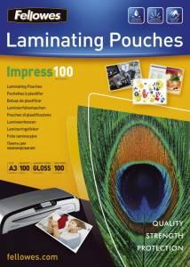 Lamineringslommer Fellowes Blank 100 mic. A3 (303x426mm) - 100stk/æsk