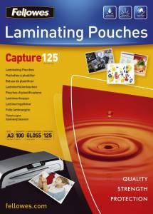 Lamineringslommer Fellowes Blank 125 mic A3 (303x426mm) - 100stk/æsk