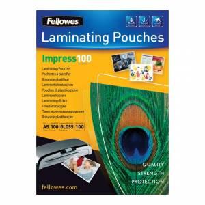 Lamineringslomme Fellowes glans 100 mic. A5 (156x216) - 100stk/æsk