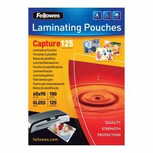 Lamineringslommer Fellow Glans 125 mic. ID-Kort (65x95mm) - 100stk/pak