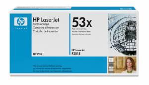 HP 53X s/h Laserjet-toner (Q7553X) Original - SORT