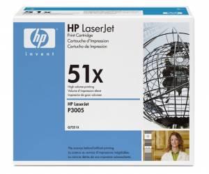 HP 51X Laserjet-toner (Q7551X) Original - SORT