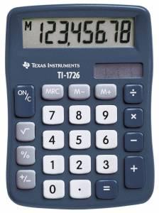 Lommeregner Texas TI-1726 skråtstillet 8-cifret display