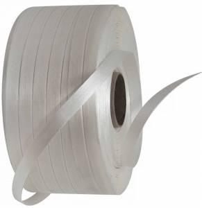 Strapbånd tekstil Ø:76 x16mm x 850M (490kg træk) Hvid