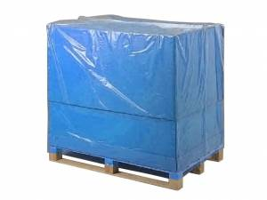 Pallehætte Blå 35my LDPE til 1/1 palle - 130/55x170cm