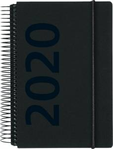Mayland Dagkalender 2020 m/spiral 1dag/side 12x17cm - sort  fiberpap