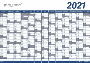 MAYLAND Kæmpekalender (2021!!!) PLAST 100x70cm, 1x13mdr.