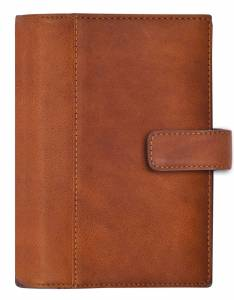Mayland System mini 2019 Ugekalender tværformat 8x12,6cm brun skind