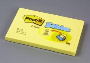 Post-it Z-Notes 76x127mm Gul - 12 blokke
