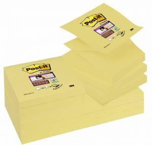 Post-it Super Sticky Z-Notes 76x76mm Canary gul - 12blk/pk