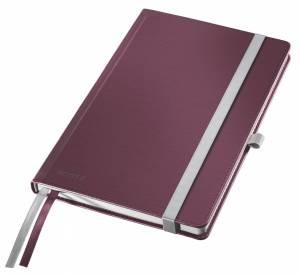 Notesbog Leitz Style A5 Hardcover linjeret 80 ark - RØD