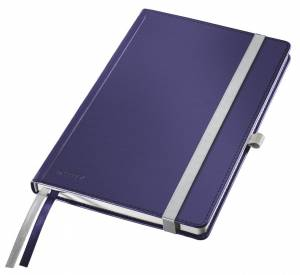 Notesbog Leitz Style A5 Hardcover linjeret 80 ark - BLÅ