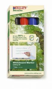 EDDING Whiteboard marker 28 EcoLine 1,5-3mm - 4 stk/pk