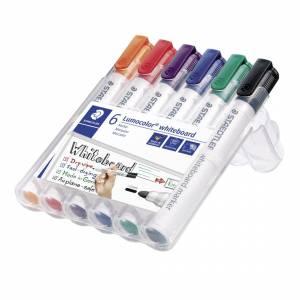 Staedtler Lumocolor whiteboard marker 351, 2,0mm - 6 Stk /pakke