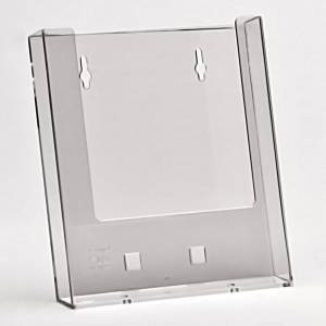 Brochureholder Taymar bord/væg A5 1-rum 160x187x32mm - Transp.