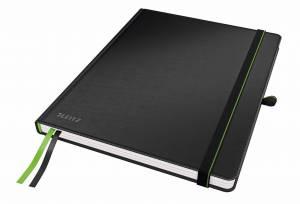 Notesbog Leitz Complete (iPad str.) linjeret 80 perf. blade - SORT