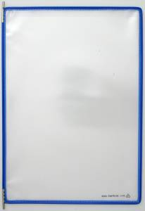 Displaylommer Tarifold blå A4 10stk/pak