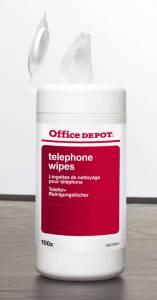 Renseservietter Office DEPOT til telefon 100stk/pak 975435