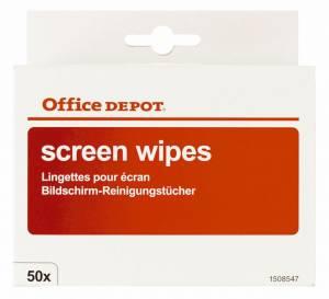 Rengøringsserviet Office DEPOT til skærm 50stk/pak 975438