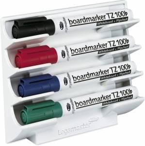 Whiteboard PENNEHOLDER Legamaster t/4stk magnetisk Hvid
