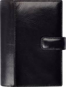 Mayland System mini 2019 Ugekalender tværformat 8x12,6cm sort skind