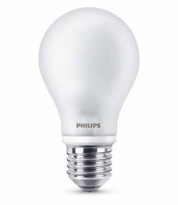 LED Pære Philips 6,7W (60W) E27, 110x60mm Varm hvid