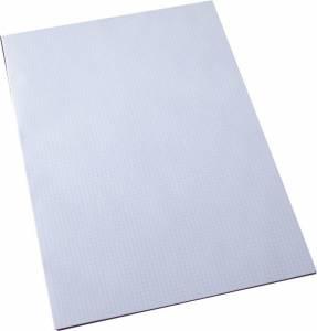 Standardblok kvadr 60gr. hvid u/huller A3