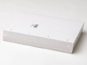 Konferenceblok 4 huller lin. toplimet 60g hvid A4