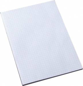 Standardblok u/huller kvadr. toplimet 60g hvid A4
