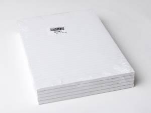 Standardblok u/huller lin. toplimet 60g hvid A4