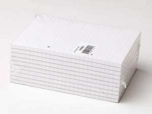 Standardblok 2 huller lin. toplimet 60g hvid A5 10blk/pak
