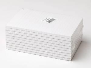 Standardblok u.huller lin. toplimet 60g hvid A5