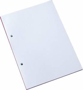 Standardblok 2 huller ulin. 60g hvid A5