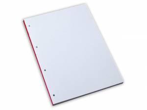 Standardblok 4 huller ulin. 60g hvid A4