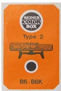 Stempelpude i box Reiner rød b6k type 2