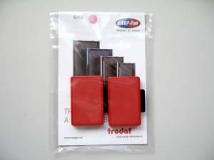 Stempelpude Trodat rød 2-pack 5205 6/55